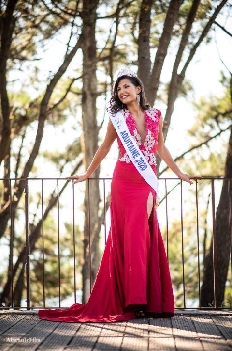 Miss aquitaine 2020 Leila Veslard bassin Arcachon