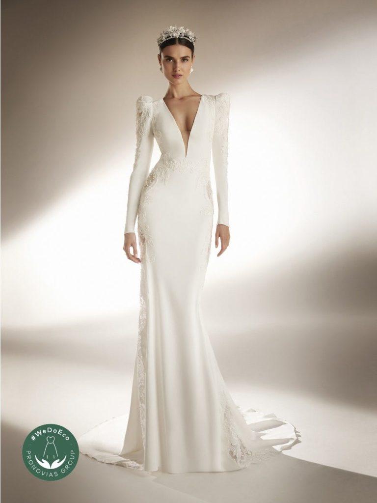 robe de mariage sirene pronovias classique élégante