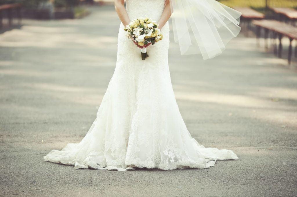 bas de robe de mariée sirène