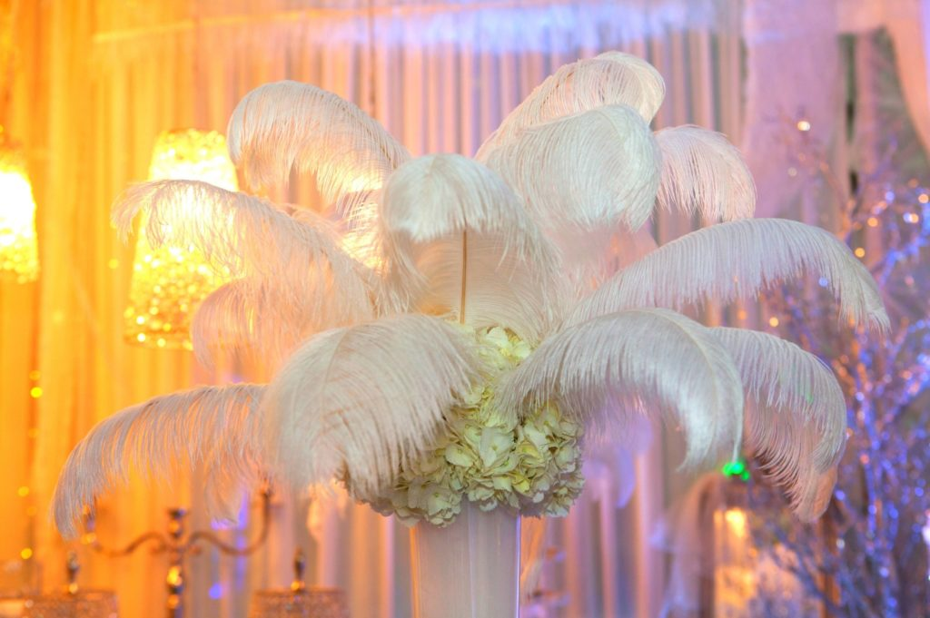 plume d'autruche pour décoration mariage