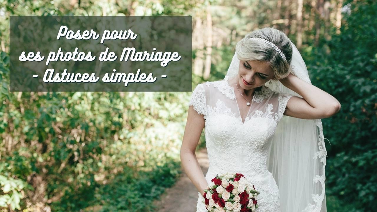 poser pour les photos de mariage