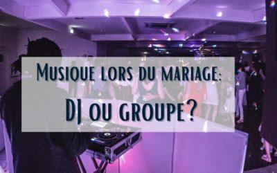 DJ de mariage ou musiciens : que choisir?