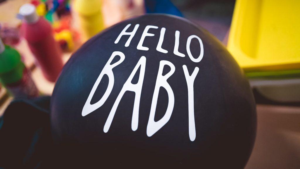 ballon hello baby