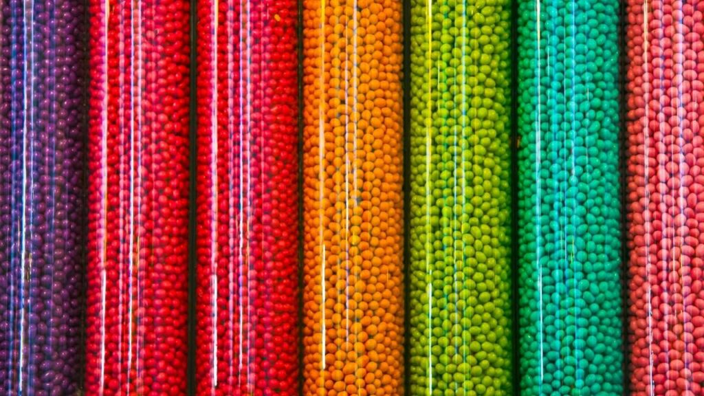 vrac de bonbon colorés