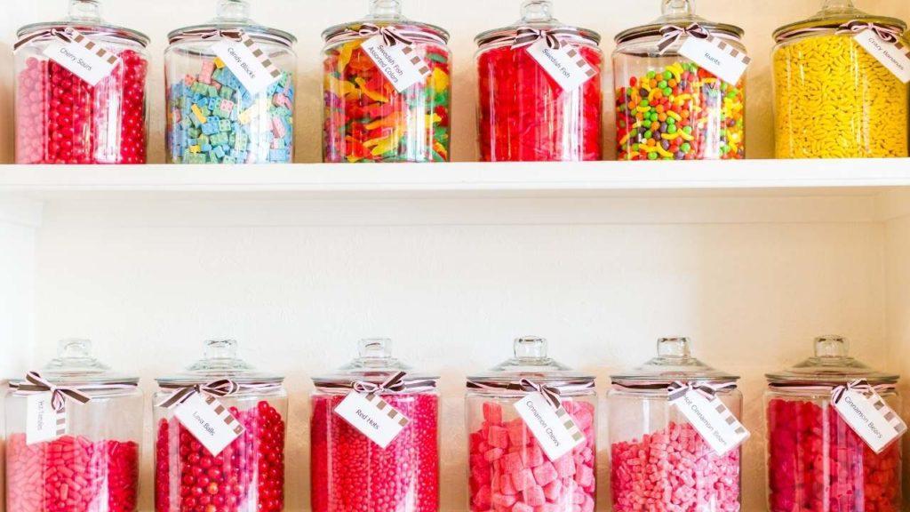 bonbon dans bonbonnières