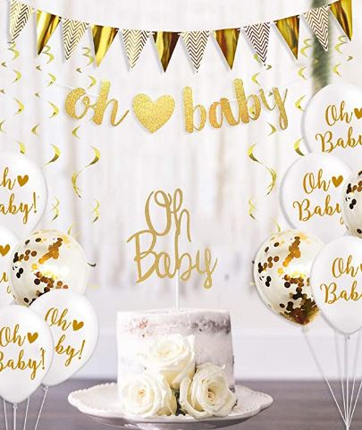 décorations pour baby shower mixte