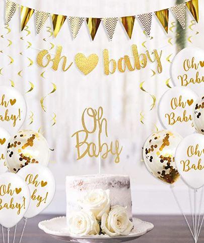 décorations pour baby shower mixte