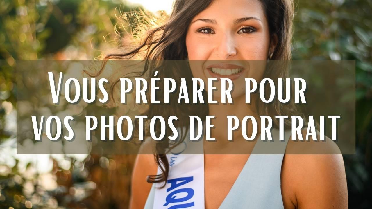 photos de portrait se préparer